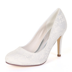 Women's Silk Like Satin Stiletto Heel Pumps With Others (273201586)