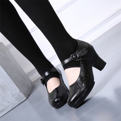 Women's Microfiber Leather Heels Pumps Latin Modern Character Shoes With Ankle Strap Hollow-out Dance Shoes