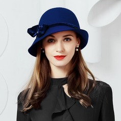 Wool With Bowknot Bowler/Cloche Hat