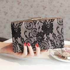 Elegant Satin/Lace/PU Clutches/Satchel