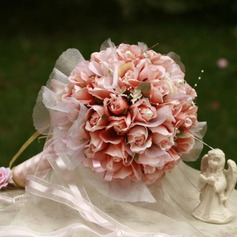 Girly Round Satin Bridal Bouquets