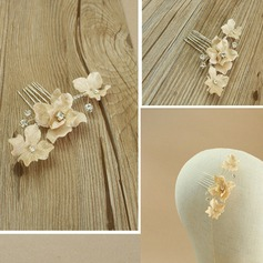 Gorgeous Alloy/Silk Flower Combs & Barrettes