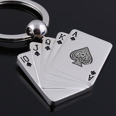 "Personalized ""Royal Flush"" Zinc Alloy Keychains"