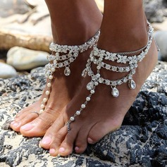 Rhinestone Alloy Foot Jewellery (Sold in a single piece) (107130783)
