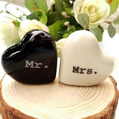 Heart Mr & Mrs. Salt and Pepper Shakers Wedding Favors