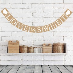 """Love is sweet"" Card Paper Photo Booth Props/Banner"