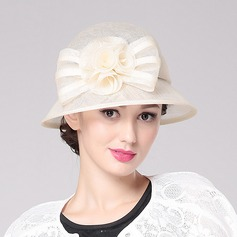Ladies' Glamourous/Classic/Elegant Polyester With Flower Bowler/Cloche Hat