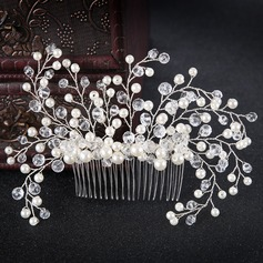 Ladies Glamourous Alloy/Imitation Pearls Combs & Barrettes With Venetian Pearl (Sold in single piece)