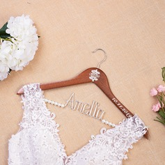 Bridesmaid Gifts - Personalized Fascinating Delicate Wooden Hanger (256215624)