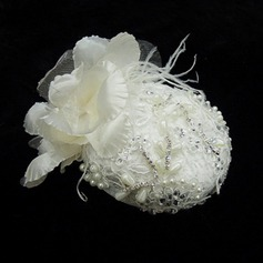 Stylish Feather/Lace/Satin Fascinators With Rhinestone/Venetian Pearl
