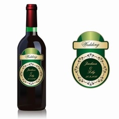 Personalized Green and Beige Waterproofing Material Bottle Labels