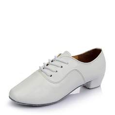 Men's Leatherette Sneakers Practice With Lace-up Dance Shoes