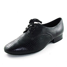Men's Real Leather Flats Modern With Lace-up Dance Shoes