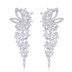 Classic Zircon Ladies' Earrings