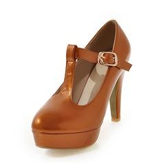 Femmes Similicuir Talon stiletto Escarpins Plateforme avec Boucle chaussures