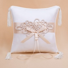Elegant Ring Pillow With Bow/Flowers