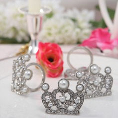 Crown Design Zinc Alloy Napkin Rings With Pearl