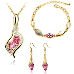 Elegant Alloy/Crystal With Crystal Ladies' Jewelry Sets
