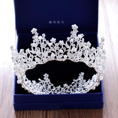 Ladies Beautiful Rhinestone/Alloy Tiaras With Rhinestone/Venetian Pearl