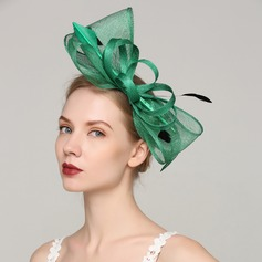 Ladies' Exquisite Cambric/Feather With Feather Fascinators
