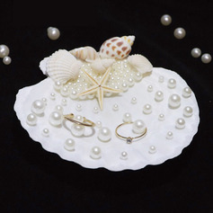 Starfish Design/Beach Themed Seashell Ring Holder With Petals