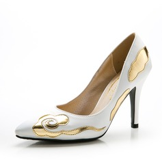 Women's Satin Stiletto Heel Pumps Closed Toe With Split Joint shoes