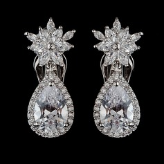 Shining Zircon Ladies' Earrings