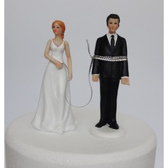 Grappig & Aarzelend Resin Taarttoppers