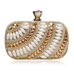 Elegant/Gorgeous/Fashionable/Refined Crystal/ Rhinestone/Imitation Pearl Clutches/Evening Bags