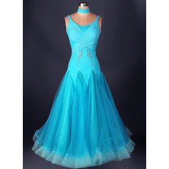 Women's Dancewear Spandex Organza Latin Dance Dresses (115091484)