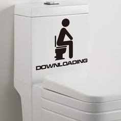Individual Toilet Sticker Bathroom Home Wall Decal  (Sold in a single piece)
