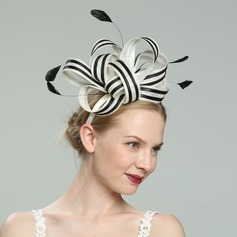 Ladies' Glamourous/Elegant/Fancy Cambric With Feather Fascinators/Kentucky Derby Hats