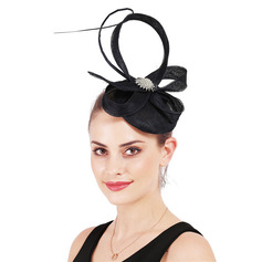 Ladies' Simple/Eye-catching Cambric With Feather Fascinators