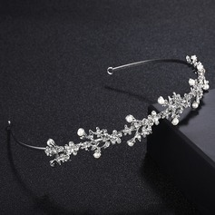 Ladies Gorgeous Alloy Tiaras With Rhinestone/Venetian Pearl