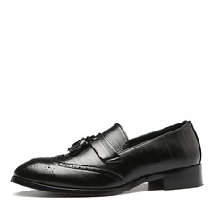 Men's Leatherette Brogue Tassel Loafer Casual Men's Loafers