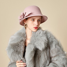 Ladies' Beautiful/Simple/Pretty Wool Blend With Silk Flower Bowler/Cloche Hats (196220685)