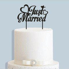"""Just Married"" Acrylic Cake Topper"