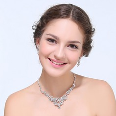 Vintage Alloy With Rhinestone Ladies' Jewelry Sets