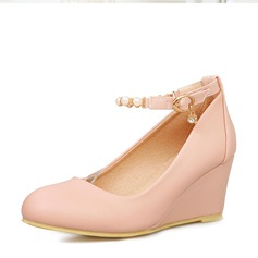 Women's PVC Wedge Heel Wedges shoes (116155014)