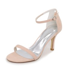 Women's Suede Stiletto Heel Pumps Sandals With Others