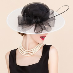 Damene ' Glamorøse Cambric med Tyll Fascinators/Stiv / Cloche Hatt/Kentucky Derby Hatter/Tea Party Hats