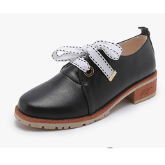 Women's Leatherette Low Heel With Lace-up shoes