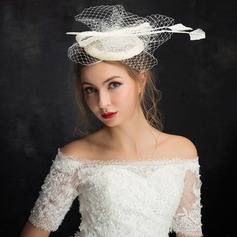Ladies' Elegant Feather/Lace/Linen With Feather/Flower Fascinators