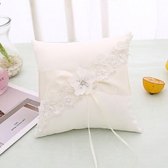 Elegant Ring Pillow in Cloth With Flowers