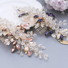 Ladies Gorgeous Crystal/Rhinestone Combs & Barrettes With Rhinestone/Crystal (Sold in single piece)