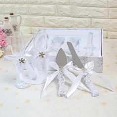 Simple Design/Elegant/Classic Toasting Flutes With Ribbon Bow