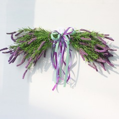 Artificial Lavender flowers Door lintel Flower Mirror Flower garland wreath wedding flower