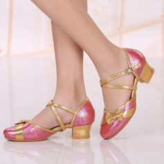 Kids' Real Leather Sandals Ballroom Dance Shoes