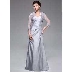 A-Line Sweetheart Floor-Length Taffeta Mother of the Bride Dress With Ruffle Beading Appliques Lace Sequins
