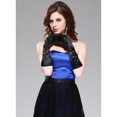 Elastic Satin Elbow Length Party/Fashion Gloves